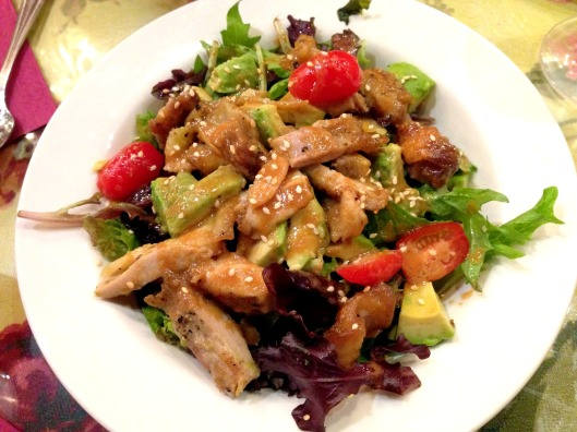 Crispy Chicken and Avocado Salad