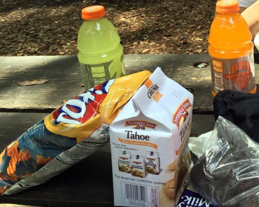 snacks for our hike. Fritos twists are so addicting!